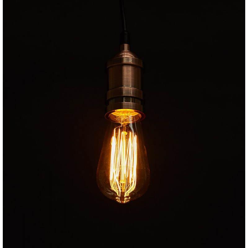 douille pour lampe suspension vintage industrielle eros. Black Bedroom Furniture Sets. Home Design Ideas
