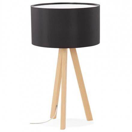 lampe de table sur tr pied scandinave trani mini noir. Black Bedroom Furniture Sets. Home Design Ideas