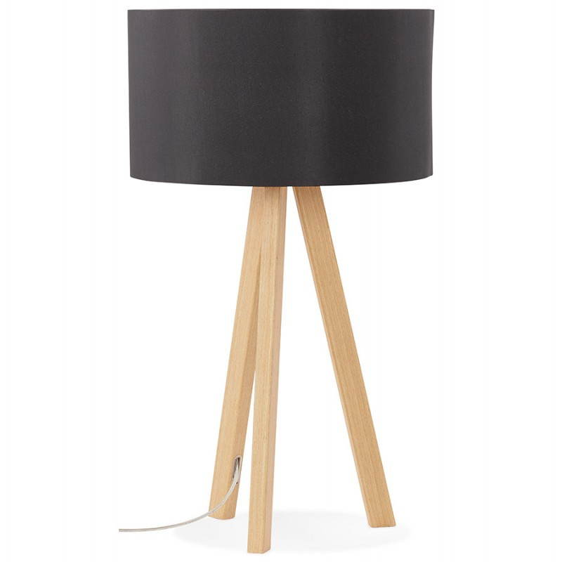 lampe de table sur tr pied scandinave trani mini noir. Black Bedroom Furniture Sets. Home Design Ideas