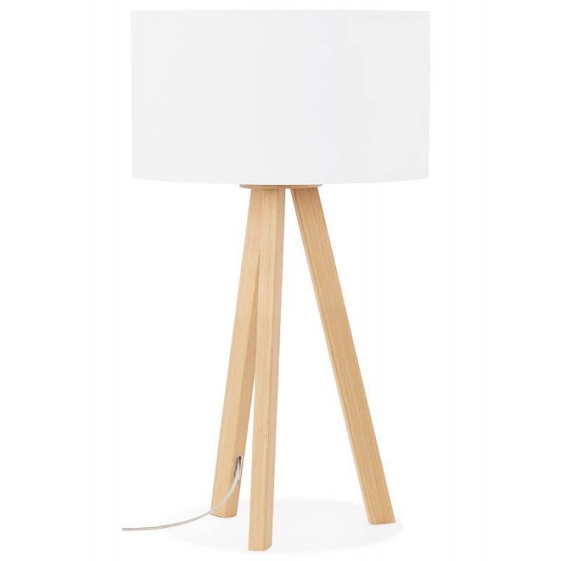 lampe de table sur tr pied scandinave trani mini blanc. Black Bedroom Furniture Sets. Home Design Ideas